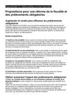 Fiche 10 : Pour une réforme des la fiscalité et des prélèvements obligatoires