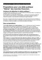 Fiche 9 : Propositions pour une dette publique