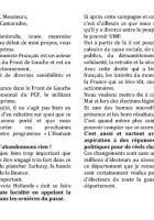 Appel d'Alain Baché à battre Sarkozy