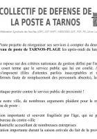 Pétition contre la réduction des horaires de La Poste de Tarnos-Plage !