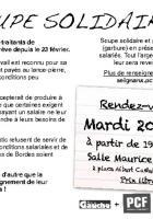 Le 20 mars : une soupe solidaire pour les GT !
