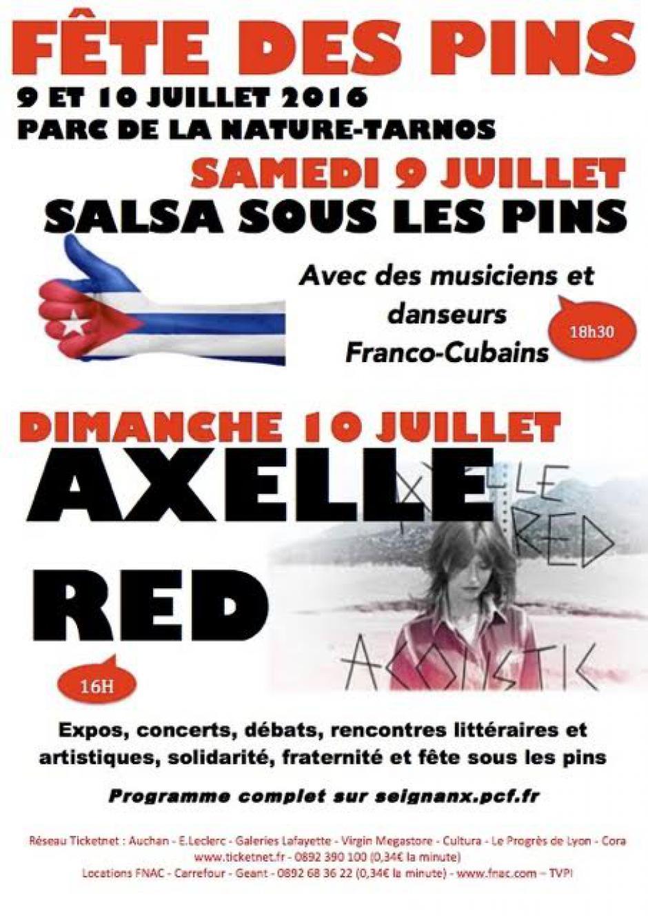 SALSA FRANCO-CUBAINE ET AXEL RED A LA FETE DES PINS 9 ET 10 JUILLET 2016
